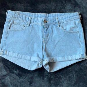 H&M Lightwash Cuffed Denim Shorts